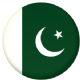 Pakistan Country Flag 25mm Keyring